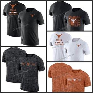 Mens Texas Longhornst Team Issue-Leistungs-T-Shirt GFX Geschwindigkeit Sideline Legend Performance Tee Sleeves College-Pullover-T-Shirts