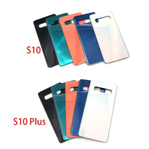 50Pcs Rear Glass For Samsung Galaxy S10E S10 Plus G970 G973 G975 G975F Back Battery Cover Door Panel Housing Case