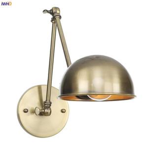Wall Light IWHD 20CM bronzo dell'oscillazione Long Arm Vintage lampada da parete Camera Stair Specchio Loft Decor industriale Retro Infissi Wandlamp