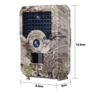 12MP HD 1080p Hunting Waterproof Camera Trail detecção de movimento Camera PR200 Infrared Camera Vida Selvagem de vigilância com câmara fotográfica Traps