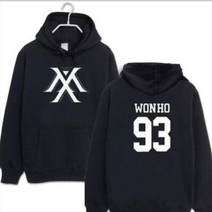 Kpop Monsta X Hoodies Women Men Harajuku Sweatshirt K pop Wonho YOOKIHYUN I.M jooheon Long Sleeve Fleece Hooded Tracksuit 4XL