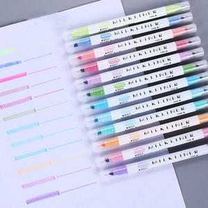 2020 New 12pcs batch Highlighter Crayon Watercolor Pen Watercolor Pen Highlighter Painting Painting Stationery Hot Trend