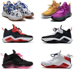 Con Mens caja de zapatos Bron Soldado 14 zapatos XIV James baloncesto para los deportes de la venta de tenis zapatillas de deporte Negro Blanco Rojo Gris Rosa 14s Lakers