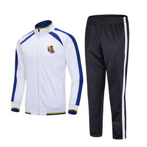 20-21 Real Sociedad de Fútbol sports Football Football Kids Survêtements costume en cours de formation en plein air ensembles Sportwear hommes