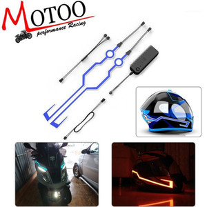 Casco da moto El Cold Light Helmet Light Strip Segnale notturno Segnale luminoso Stillone Modificato Sticker1