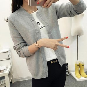 New spring summe 2020 female knit cardigan sweater coat short female a little shawl knitted jacket 11 color