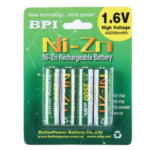 4pcs 1 lot SIZE 5# Nickel-zinc Battery 1.6V 1500mAh strong power children's toy rechargeable battery