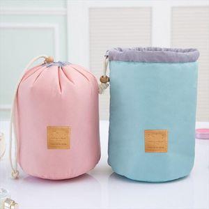 High Quality Bucket type Cosmetic bags Beautician Cosmetic Travel Bag organizer Waterproof High capacity Makeup bag