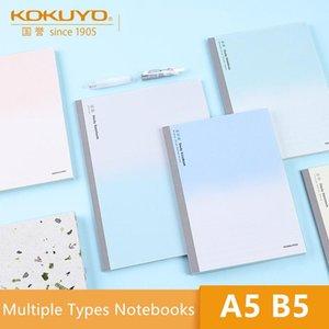 Bloco de notas Kokuyo All Subject Study Notebook Campus WCN-DNA58 A5 B5 Simples Design Memo Coluna Em Branco 5 / 9mm Square Music Livros Inglês