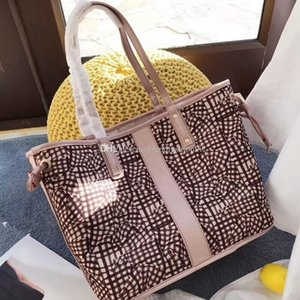 2018 latest new fashion hot sale woman female lady letter leather Mm pattern totes shopping bag big handbag with small bag inside