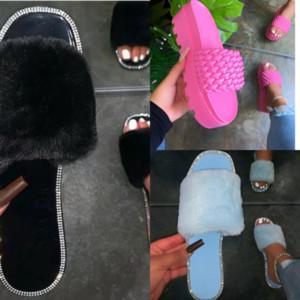 IMD2h Top designer Quality New Color high quality Paris Sliders dener slipper Summer Sandals Mens Womens Beach Slide Flip Ladies Slippers