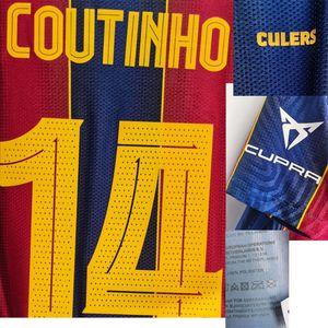 2020 Матч Изношенный игрок Проблег joan Gamper Final Messi de Jong Griezmann Ansu Fati с Match Detail Fitcer Patch Badge Home Textile