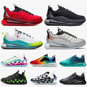 Top Zapatillas de correr para hombres Mujeres ISPA 720 818 University Red Black Grey White White Metallic Silver Silver Trainers Sports Sneakers