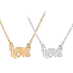Ti amo Lettera romantica collana Pet dog artiglio cava Girlfriend regalo Moglie Day For Pendant San Valentino