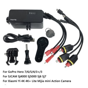 GoPro의 영웅 6분의 7 / 5 / 3분의 4 + 샤오 미 이순신 4K SJCAM 액션 카메라 액세서리 30M 방수 5200mAh 전원 은행 외부 배터리 은행