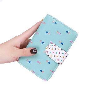 Korean version of the ladies wallet 2020 new lady Korean cute polka dot medium wallet manufacturer spot wholesale
