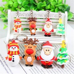 Portachiavi in silicone stereoscopico Piccolo regalo Car Key Pendant Accessori festivo albero di Natale Eva Decorazione