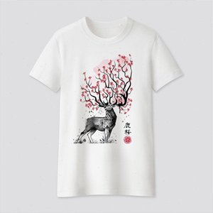 Women Clothes Buck Icon Print Short Sleeve Cute T shirt Casual T shirt Harajuku Ullzang Tshirt Fashion Top Tee Female