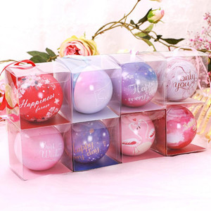 Wedding candy box spherical circular bridal wedding party favors tinplate and joyful box small flower gift boxes small PVC