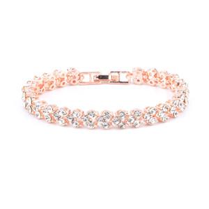Venda quente Exquisite Luxo Romano Cristal Feminino Pulseira Jóia Pulseira Simples Diamante Completo Bracelete Frete Grátis