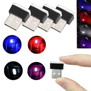 Red Yellow Blue Green Purple Universal Mini Flexible USB LED Car Interior Light Neon Atmosphere Tube Ambient Lamp