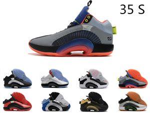 New35 para hombre de los zapatos de baloncesto 35s centro de gravedad Niños Negro Oro Bred tamaño de los hombres entrenador deportivo zapatillas de deporte: 40-46