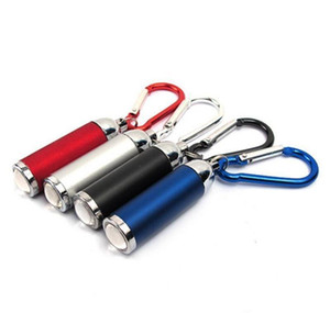 Mini Light With 4 Flashlight Outdoor Edc Led Colors Hook Keychain - Torch Camping Keyrings Portable Ytjao