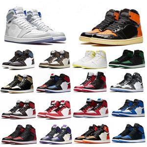 New Jumpman 1 Zapatos High Og Travis Scotts Baloncesto Zapatos de baloncesto CV Homenaje a Home Royal Blue Womens Sport Designer Sneakers Trainers