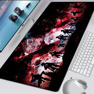 90x40cm Attack on Titan Anime Large Lock Edge Mouse Pad Computer Mousepad XXL Gaming Padmouse Gamer Laptop Keyboard Mouse Mats LJ201031