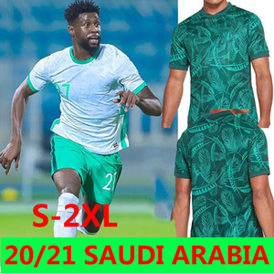 Saudi Futebol Jerseys Arabias 2020 2021 National Team Salem Al Dawsari Abudullah Alhamdan Firas Albirakan Homens Kits Futebol Shirts Uniformes