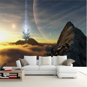 beibehang Пользовательские Фото обои наклейки Эстетическая 3D Sci-Fi Space Star TV Wall Wall Papel де Parede обои для стен 3 д