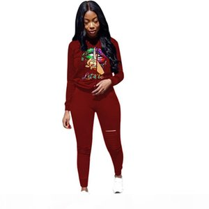 Plus size Women Sweat suit hoodies 2 piece set ripped long sleeve pullover+leggings casual outfits fall winter clothing sportswear 3626