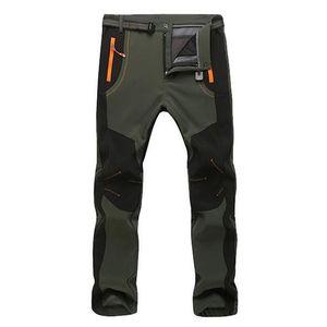 Мужские теплые зимние брюки мужские русские подкладки грузовые брюки мужские водонепроницаемые брюки мужские растягивающиеся вскользь трудовые брюки 2020