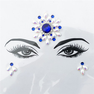 Adhesive Face Gems Festival Jewelry Temporary Face Jewels Stickers Party Body Rhinestone Flash Body Make Up Accessories