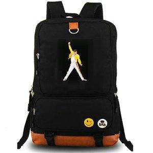 zaino regina Freddie Mercury zainetto We Are the Champions zainetto Computer interstrato zaino sacchetto di scuola della tela di canapa giorno Pack Outdoor