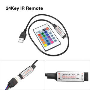 USB IR RF RGB Remote Controller for LED SMD 5050 2835 RGB Strip light 5V Wireless LED controller 3 24 17 keys for Tape ribbon