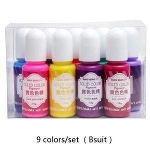 Qiaoqiao 9colors conjunto de resina sólida tinte de resina epoxi pigmento UV resina colorante colorante colorante pigmento bricolaje artesanías artesanales artesanía sqcmai new_dhbest