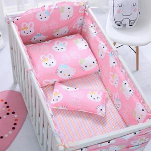 Cama personalizado fundamento do bebê Kit BB Berço Set Infantil Set 3/6/7 / 12pcs Lençois Colchas de cama puro algodão frete grátis