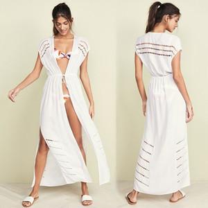 2021 NUEVO BLUZA BORRÓLADA HUEBLO VESTIDOS Vestidos de algodón Tritures de algodón en Bikini Sexy Bikini Cardigan Cardigan Brup