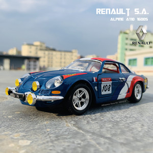 Bburago 1:24 Renault Alpine A110 1600s simulation alloy car model crafts decoration collection toy tools gift