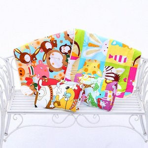 Детские Изменение Pad 3-слойный лист Моча Pad мультфильм печатных Младенческая водонепроницаемый матрас Мат Пеленки хлопок подгузников кровать случайный цвет 08Y5 #