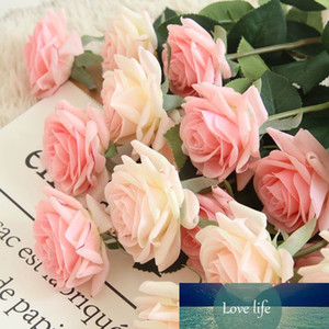 11pcs lot Artificial Flowers Real Touch Rose Silk Flowers for Bouquet Wedding Table Decor Branch Christmas Fake Flower Gift