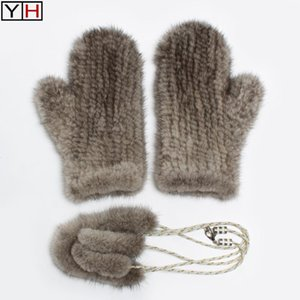 Fashion Luxury Genuien Gloves Winter Lady Warm Soft Real Gloves Good Quality Elastic Natural Mittens
