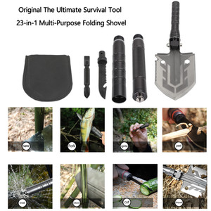 Areyourshop Original The Ultimate Survival Tool 23 in 1 Multi Purpose Folding Shovel Tactical equipment Accessories Parts