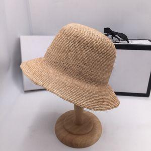 Summer crochet lafite grass short brim hat fashion fisherman basin web celebrity with straw hat temperament rural travel 201009