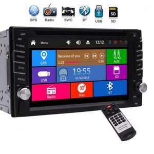 """자동차 오디오 더블 DIN 라디오 블루투스 스테레오 GPS 네비게이션 DVD CD 플레이어 2 6.2 """"터치 스크린 FM USB SD 스티어링 휠 Control1"""