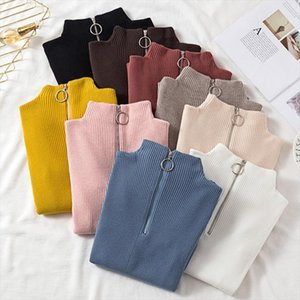 Womens Sweaters 2019 Autumn Winter Tops Turtleneck Sweater Women Pullover Jumpercashmere Sweater Women Sweter Pull Femme Hiver