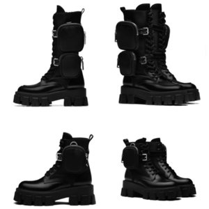 Tüp Martin botları askeri kadın botları Moda bayanlar kış siyah bağcıklı kalın tabana vurma naylon bel çantası