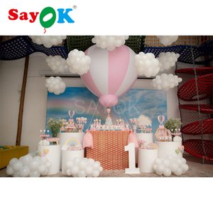 1.5 متر (5ft) h pvc نصف الهواء الساخن بالون نفخ شنقا البالونات للطفل دش حزب / الاطفال عيد / الحدث / المعرض / المعرض T200624