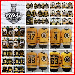 2021 Ters Retro Boston Bruins 88 David Pastrnak 37 Patrice Bergeron 63 Brad Marchand Krejci Tuukka Rask McAvoy Deprusk Orr Hokey Formaları